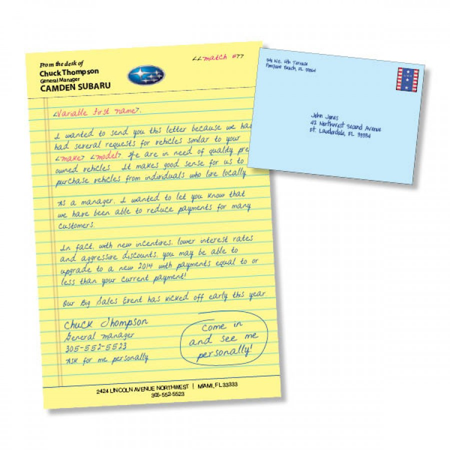 6 x 9 handwritten direct mail letter invitation style ims auto stopboris Image collections