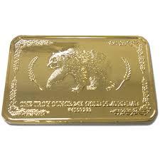 24k Gold Plated Troy Ounce Bar Ims Auto